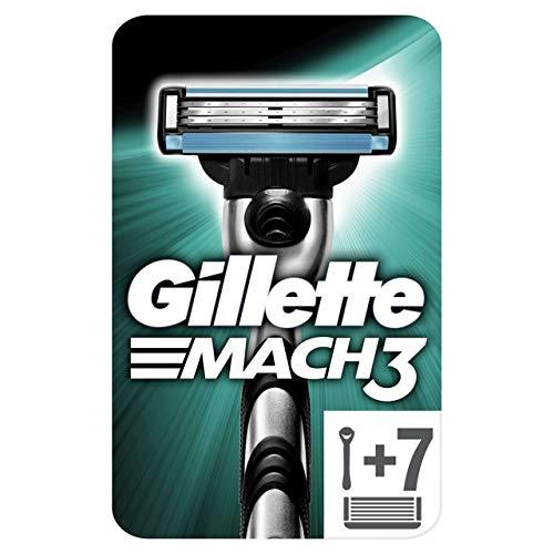 Gillette Mach3 Rasierer, Briefkastenfähige Verpackung, 6Rasierklingen