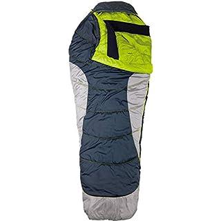 AceCamp Schlafsack für Erwachsene, Wasserabweisend, Mumienschlafsack, 3 Jahreszeiten, bis -17 °C, Grau, 3977