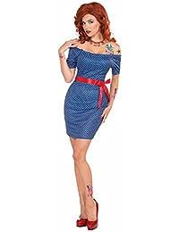 Forum Retro Betty Pin Up Dress Costume M/L