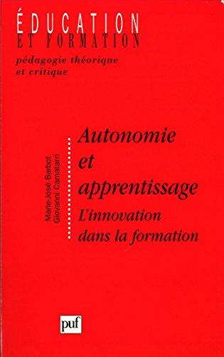 Autonomie et apprentissage: L'innovation dans la formation