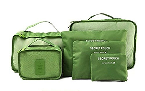 5b625822a5a Oriental Elife® Conjuntos de 6 organizadores de viajes Cubos de embalaje  bolsa de lavandería bolsas