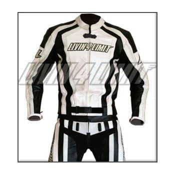 Motorrad Lederkombi 4LIMIT Sports LAGUNA SECA Motorradkombi Zweiteiler wei/ß-schwarz XXL