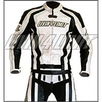 Motorrad Lederkombi 4LIMIT Sports LAGUNA SECA Motorradkombi Zweiteiler weiß-schwarz XS