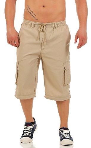 malito praktische Cargo Hose Bermuda MK360 Herren beige (Kostüm Männer Für Zumba)