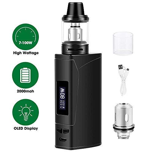 Cigarrillos electrónicos,E cigarette starter kit Armor 100w, E Cigs, Batería recargable de 2000 mah, Enorme Kit de Vape con pantalla,Sin...