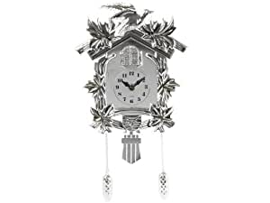 Silly SY100709SI Horloge Coucou Plastique Exclusive 3 Pile LR 14 -25,5 x 30 x 18 cm Chrome