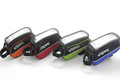 Nexify Fahrrad Rahmen Pannier vorne Rohr Tasche für Handy-Wasserdicht + Fahrrad Kettenstrebenschutz Grün