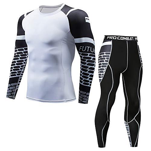 AFYH Kompressionsshirt Laufshirt Sportshirt, Kompressionsset - Multi-Option-Trainingskleidung - Strumpfhosen - Kostüme - schnelltrocknendes Sportswear-Kit,11,XL