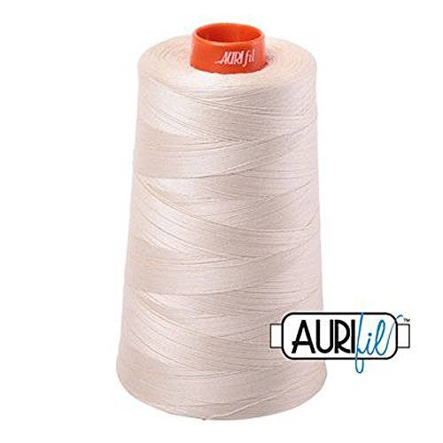aurifil 2310Mako 50WT 100% Baumwolle Gewinde, 6,452Hof Membran Light Beige -