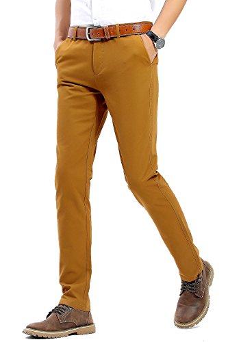 Pantalones casual amarillo mostaza para hombre