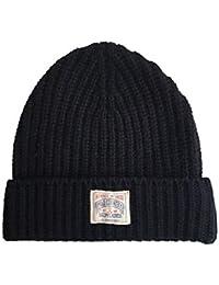 b4c90e8a749 Ralph Lauren Polo Beanie Hat Mens Rib Cuff Chunky Wool Black