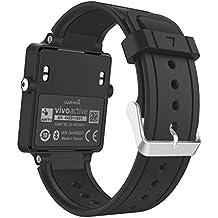 MoKo Garmin Vivoactive Correa de Reloj, Suave Silicona Reemplazo Watch Band para Garmin Vivoactive / Vivoactive Acetate Sports GPS Smartwatch - Negro