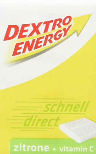 Dextro Energy Würfel Zitrone / Je 8 Dextrose-Täfelchen mit schnell verfügbarem Traubenzucker und zusätzlichem Vitamin C / 9 Packungen (9 x 46g) - Traubenzucker