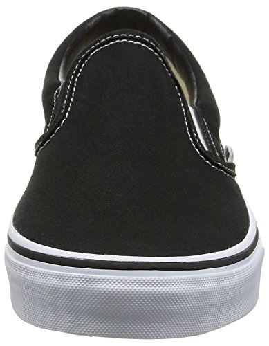 Vans Unisex Adults' Classic Slip On, Black (Black / White), 8.5 UK
