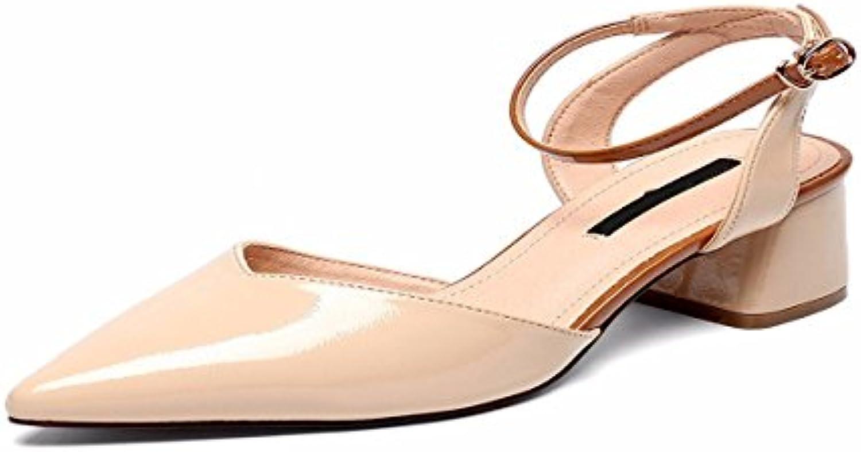 hbdlh des chaussures chaussures chaussures pour femmes / avec une paire de sandales summer wild baotou peu frais fille 6 cm des chaussures à talons hauts.b07g16hy16 parent e3be0c