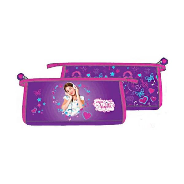 Estuche portatodo Violetta 25x11x5cm