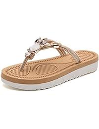 Cheerlife Damen Sandalen Eule Schuhe Sommer Strand Casual Pantoffeln Zehentrenner Flip Flops 37 Schwarz