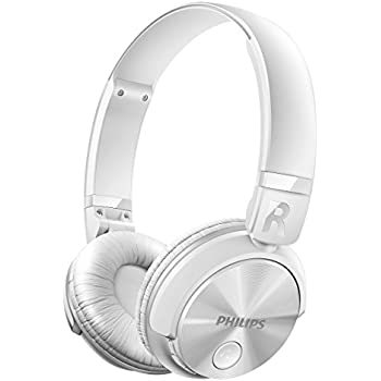 philips shb4000wt casque audio bluetooth sans fil avec micro pliable plat ultral ger blanc. Black Bedroom Furniture Sets. Home Design Ideas