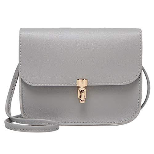 Vintage Mode Kleine Mini Messenger Bag Handtasche Quaste Flap Bag Leder Frauen Gray S - Klassische Flap Bag