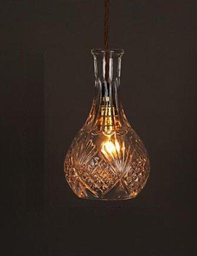 swent moderna Fácil/Retro/LED de techo Leuchten E27220V 22* 13cm 10–15M². Roman mesa Botella creativo de cristal tallados–Lámpara LED, color blanco