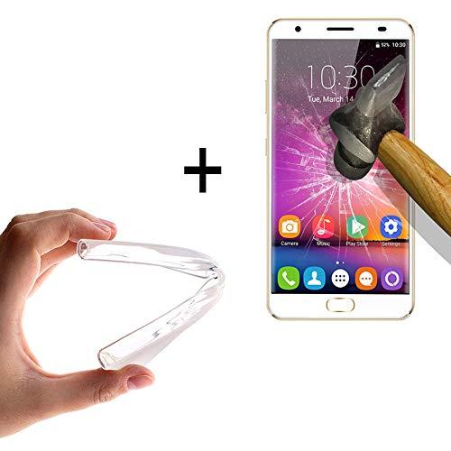 WoowCase - [ OUKITEL K6000 Plus Schutzhülle Silikon Transparent [ +1 Schutzglas ] 9H Panzerglas Bildschirm Schutzfolie, Hülle Case TPU