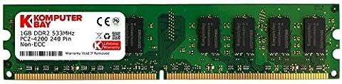 Komputerbay 1Go DDR2 533 MHz PC2-4200 PC2-4300 Mémoire DDR2 533 (240 PIN) DIMM bureau