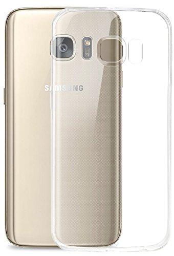 Galleria fotografica COVERbasics AIRGEL 0.3mm per Samsung Galaxy S7 Flat SM-G930 con Bordo Proteggi Fotocamera Cover Custodia Morbida Trasparente Silicone Gel Gomma TPU Flessibile Sottile Fina Invisibile Ultra Thin Slim