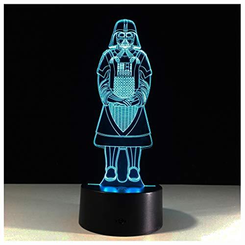 Star Wars LED ZNZ Illusion Lumineuse Lumineuse Pièce pour Enfant Bande Dessinée Anime Petite Lampe de Table USB Sensation de Charge Toucher Sept Couleurs Veilleuse (25-32),26