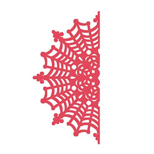 Yyooo-UK Stanzschablone, Spinnennetz, für Scrapbooking, Prägepapier, Karte, Heimdekoration (Halloween-spinnennetze Uk)