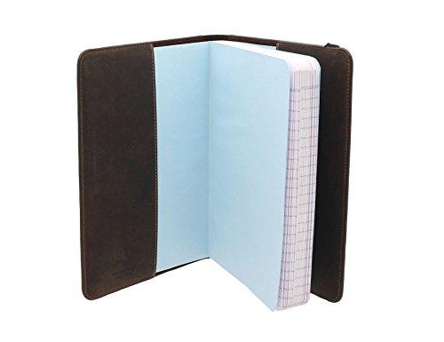 Visconti pelle oliato COLUMBUS A5 ufficiale Notebook copertina NB05 olio Tan Oil Tan