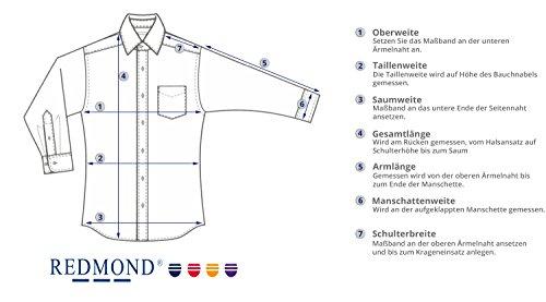 Redmond Hemd 4 Limited Slim fit hellblau Kent Hellblau