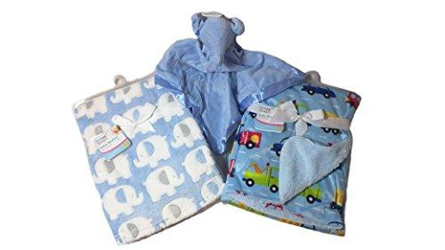 Coperta di lusso in pile super morbido bambino coperta Sherpa e posteriore con raso Teddy Comforter Bundle