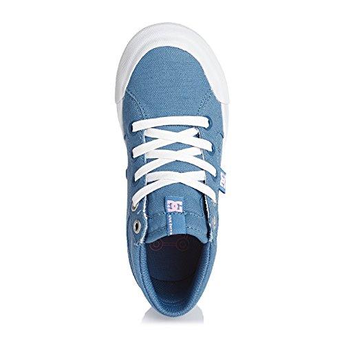 Chaussures DC Evan Hi Tx Blue White Bleu