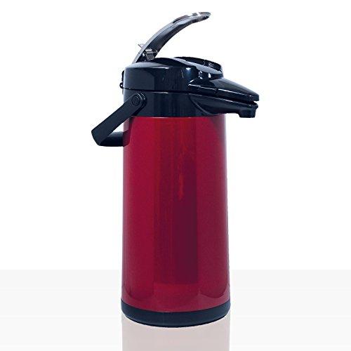 Bonamat Pumpkanne Furento – ROT METALLIC – Edestahlinnenzylinder
