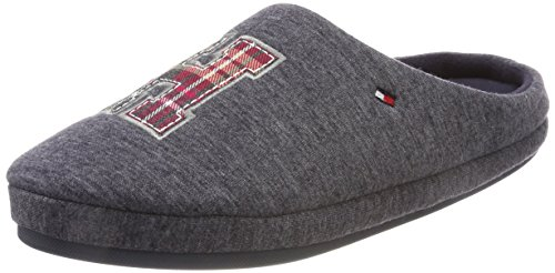 Tommy Hilfiger C2285ornwall 1d2, Pantofole Uomo Grigio (Magnet)