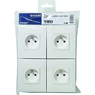 Arnould arn96002Sockets with Earth Space Evolution White Set of 4