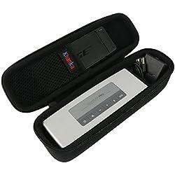 Khanka EVA Dur Cas Voyage Etui Housse Sac Case pour Bose Soundlink Mini 2 / II Bluetooth Portable Wireless Speaker haut-parleur - Fits the Chargeur , Charging Cradle. Fits avec the Bose TPU Doux couverture (noir)