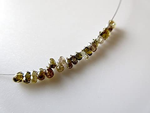 10 Pieces/Natural Raw Rough Faceted Diamond Tear Drops Beads/Tiny 3mm