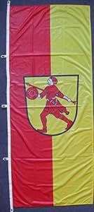 Flagge Fahne Wilhelmshaven, ca. 400 x 150 cm Hochformat, 160 g/m² Polyesterwebware Premiumqualität