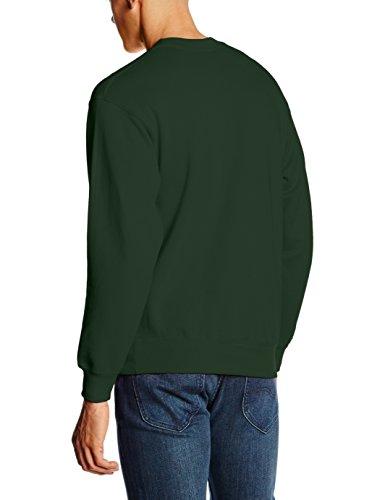 Fotl Herren Sweatshirt Set in Sweat, Einfarbig Green (Bottle Green)
