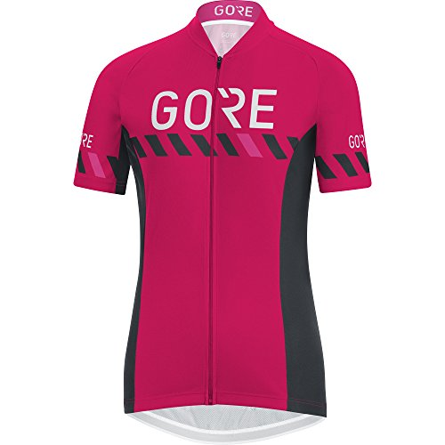 GORE WEAR Damen C3 Brand Trikot Jazzy pink/Black, 38