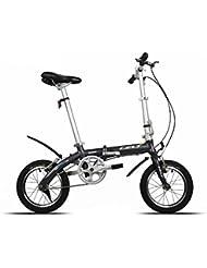 Bazaar Châssis en alliage mini-vélo en aluminium vélo pliant vélo Légèreté à double v frein 14 pouces