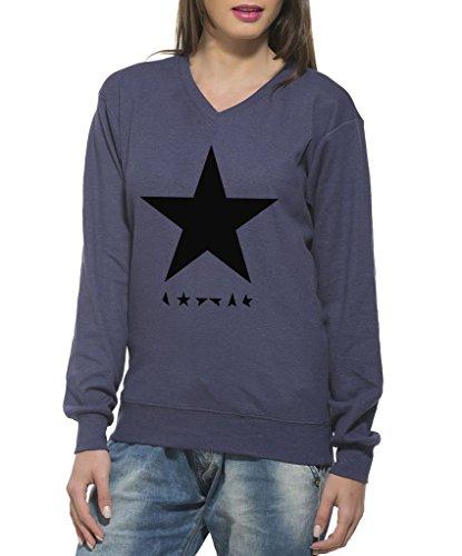 Clifton Women's Printed Sweat Shirt V-neck-navy-Black Star-XL