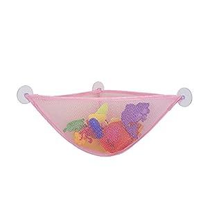 Dandeliondeme Aufbewahrungstasche für Badezimmer, Baby und Kinder, Netzstoff, zum Aufhängen, Aufbewahrungstasche für Badezimmer, Waschutensilien, Duschspielzeug mit Saugnäpfen