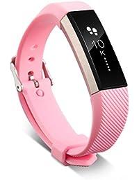 Fitbit Alta HR Correa, Malloom Recambio pulsera banda silicio correa cierre de Fitbit Alta HR Smart Watch pulsera (Rosa)