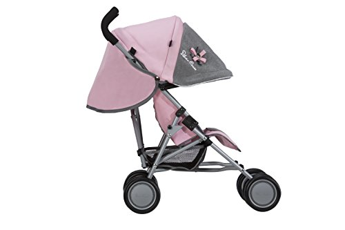 Silver Cross Pop Dolls Pushchair / Stroller. Age 18 months - 3 years. Handle 61cm - Vintage Pink Fabric