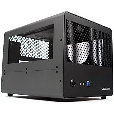 caselabs Bullet BH2mITX case con Dual Windows grigio Gunmetal - Gunmetal Scheda