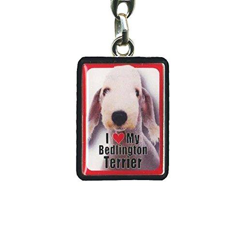 Instant Gifts PEK Bedlington Terrier Dog Keyring – 4cm x 3cm