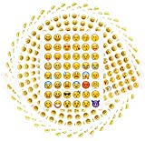 SIMUER 100 Fogli Adesivi Emoji Divertenti per Bambini, Emoticon 4800 Emoji Decor per Lettere Carte Regalo Auguri da Phone Facebook per cellulari, Laptop, Decorazione Notebook Faccine per Bambini