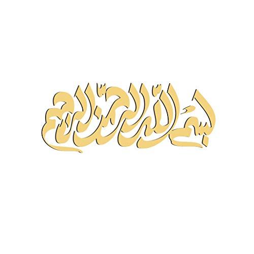 Geometrie Muslimische Kultur Aufkleber 3D Kristall Spiegelaufkleber Wandtattoo, Kunst Abziehbilder Wand Deko für Wohnzimmer Schlafzimmer Möbel Wohnaccessoires, 50X20cm